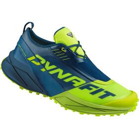 Dynafit Ultra 100 Zapatillas Hombre, poseidon/fluo yellow